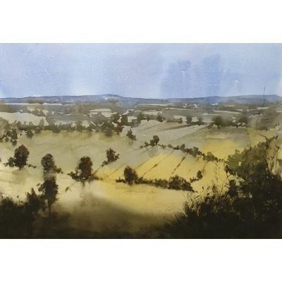 Irish Landscape study 4 watercolour