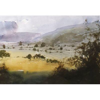 Irish Landscape Study 2 - Watercolor