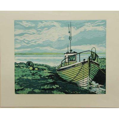 Fishing Boat, Low Tide