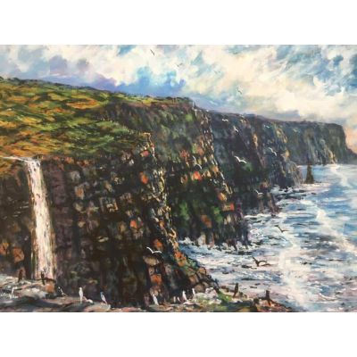 Cliffs of Moher Waterfall