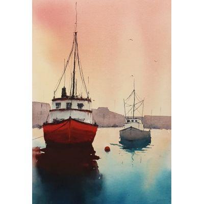 Red Fishing Trawler - Howth