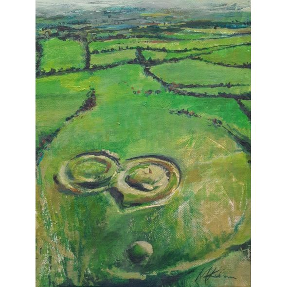 * The Hill of Tara / Original painting on canvas