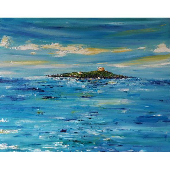 Summer Blues over Dalkey Island