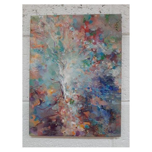 Magic tree / Textured mixed media art
