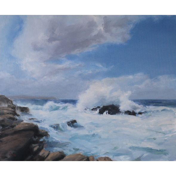 Donegal Seascape - Mullaghderg Wave down by the rocks