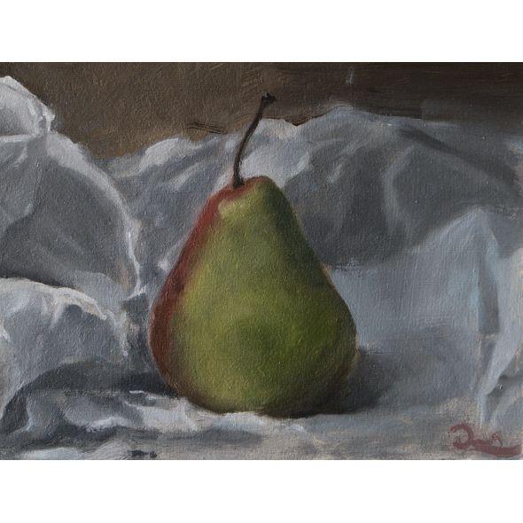 Still life of Pear in paper