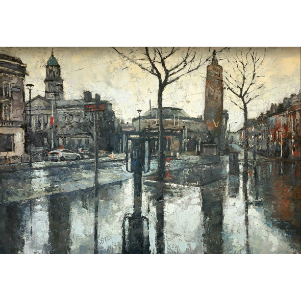 O'Connell Street on a Rainy day.