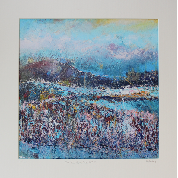 The Hill, November 2015 - limited edition print of an original painting