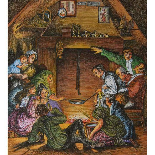 Pancake Day in a Farmer's House  (Ireland 19th. C.)