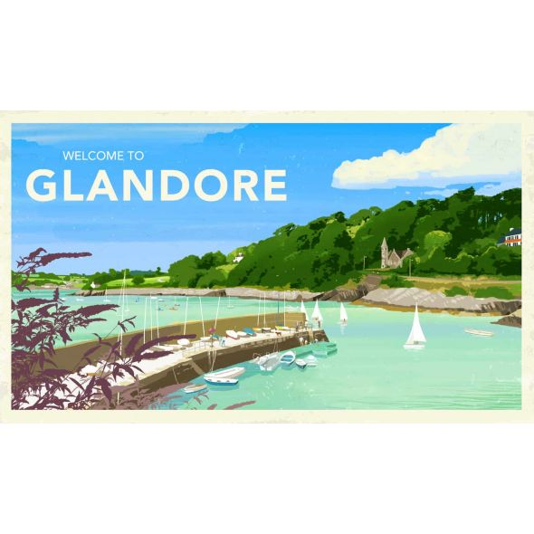Glandore, West Cork Travel Poster