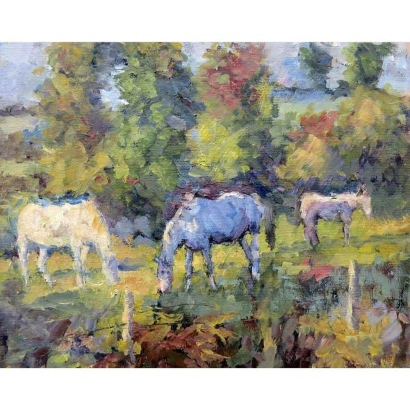 Horses in the Bog